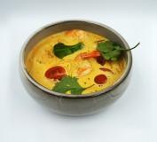 Tailandietiška kokosu sriuba su krevetėmis ir vištiena 6,89€